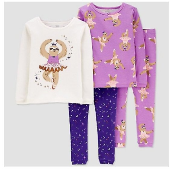 Carters Just one you sloth pj set